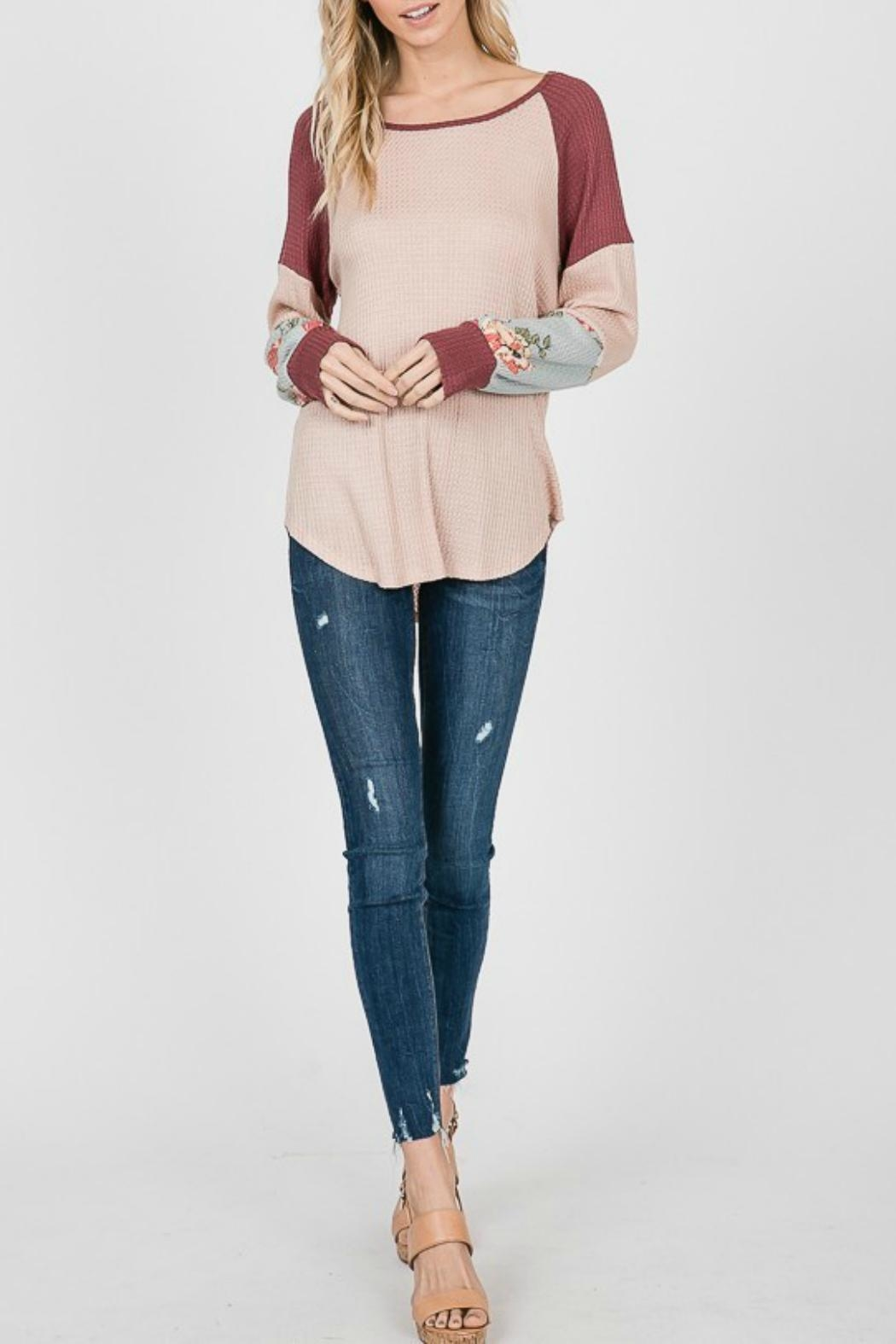 7th Ray Floral Sleeve Pullover - Main Image
