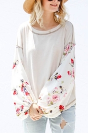 Unlimited Floral Sleeve Top - Product Mini Image