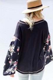 Gifted Floral Sleeve Top - Side cropped