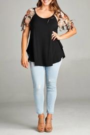 Emerald Floral Sleeve Top - Product Mini Image