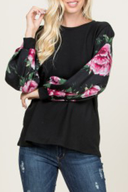 a.gain Floral Sleeve Top - Product Mini Image