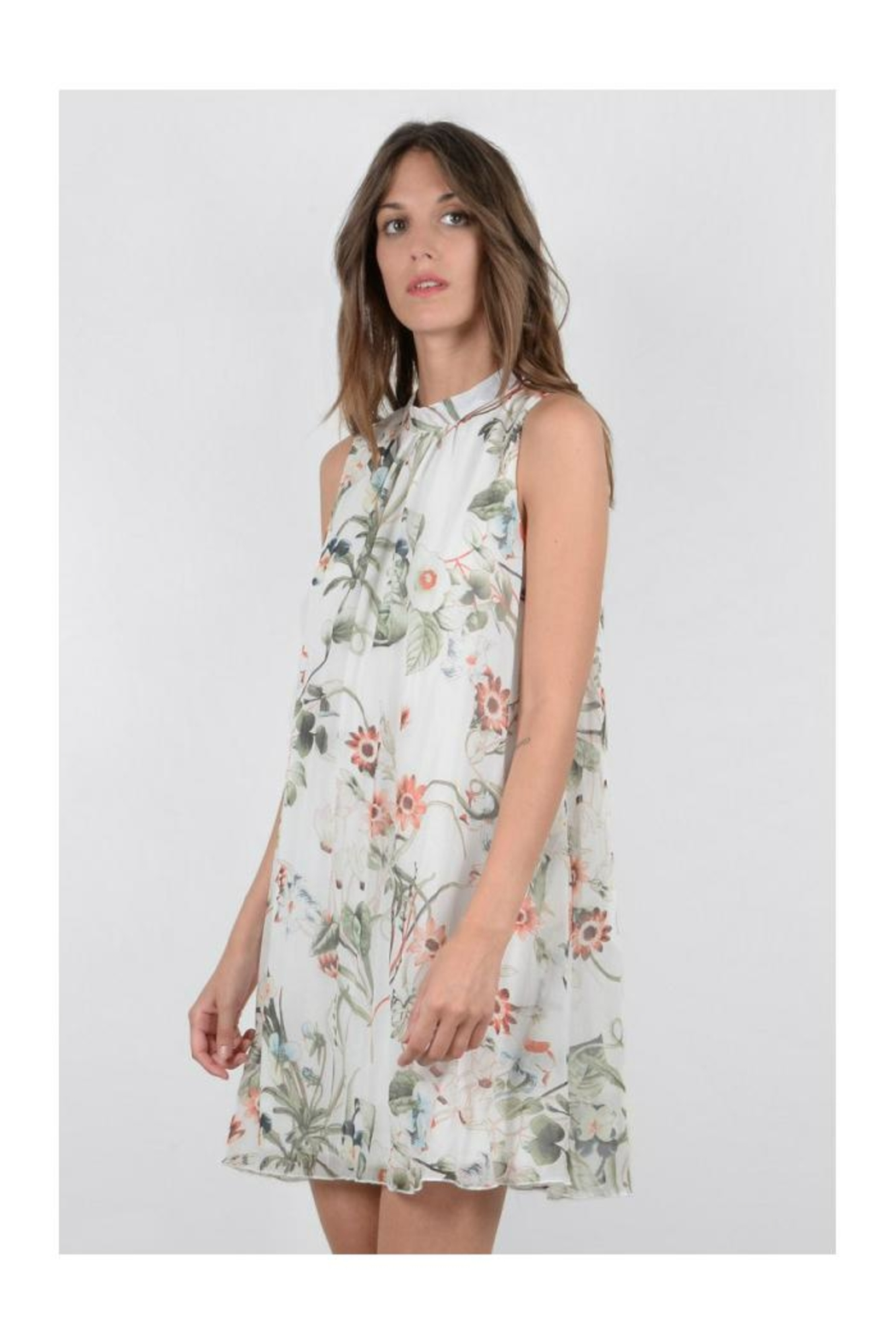 Molly Bracken Floral Sleeveless Dress - Front Full Image