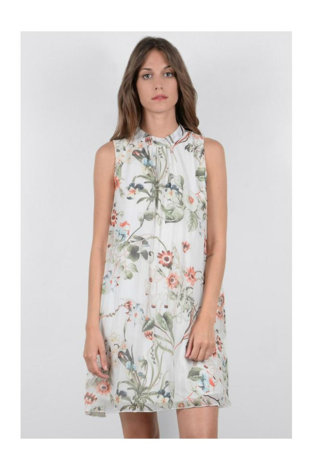 Molly Bracken Floral Sleeveless Dress - Main Image