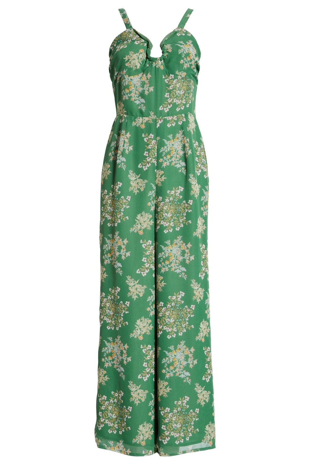 J.O.A. Floral Sleeveless Jumpsuit - Back Cropped Image