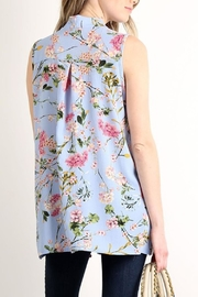 Lara Fashion Floral Sleeveless Tie-Top - Front full body