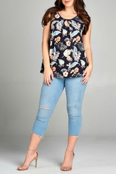 Shoptiques Product: Floral Sleevelss Top