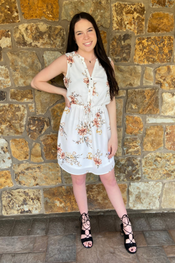 Dex Clothing Floral Slvls Dress w Tie Waist from New Jersey by Charlotte's Web Towaco — Shoptiques