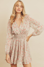 dress forum Floral Smock Waist Dress - Product Mini Image