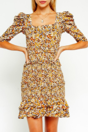Olivaceous Floral Smocked Dress - Product Mini Image