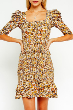Olivaceous Floral Smocked Dress - Product List Image
