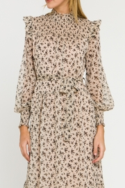 English Factory Floral Smocked Maxi Dress - Back cropped