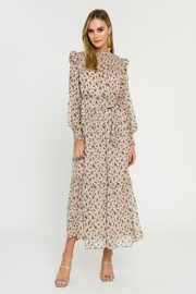 English Factory Floral Smocked Maxi Dress - Front cropped