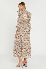 English Factory Floral Smocked Maxi Dress - Side cropped