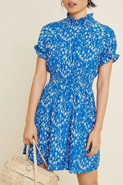 Hayden Los Angeles Floral Smocked-Neck Mini-Dress - Product Mini Image
