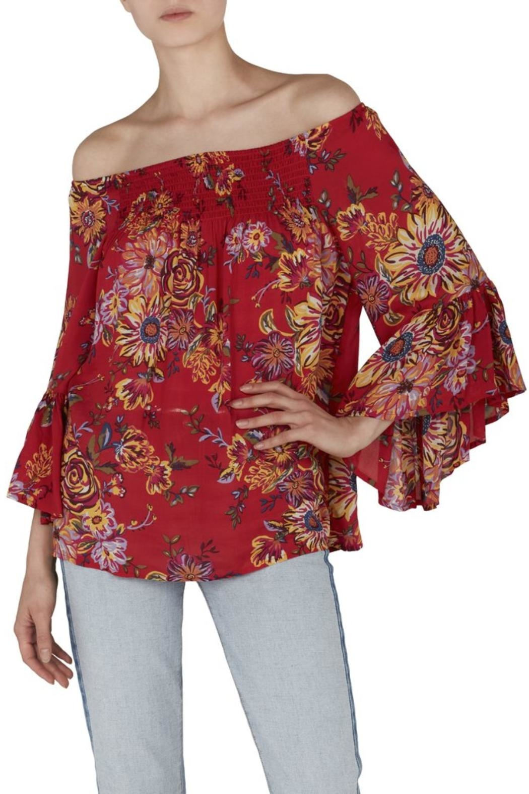 45815bc5d3 Beach Lunch Lounge Floral Smocked Top from Westhampton Beach by Chic ...