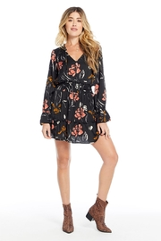 Saltwater Luxe Floral Smocked Waist L/S Dress - Front cropped