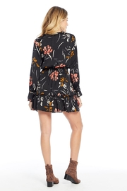 Saltwater Luxe Floral Smocked Waist L/S Dress - Side cropped