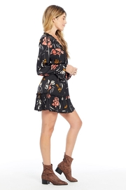 Saltwater Luxe Floral Smocked Waist L/S Dress - Front full body