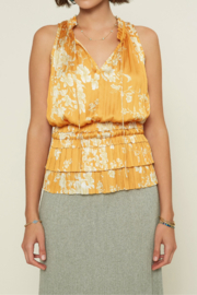 Current Air Floral Smocked Waist Tiered Ruffle Top - Product Mini Image