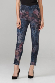 Joseph Ribkoff Floral Soft Knit Jean Pants - Product Mini Image