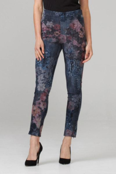 Joseph Ribkoff Floral Soft Knit Jean Pants - Product List Image