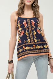 Blu Pepper Floral Spaghetti Strap Top - Product Mini Image