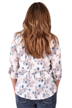 True Blue  Floral Spring Blouse - Alternate List Image