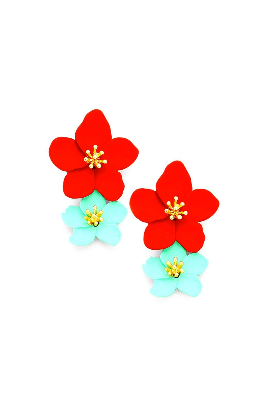 Wild Lilies Jewelry  Floral Statement Earrings - Main Image