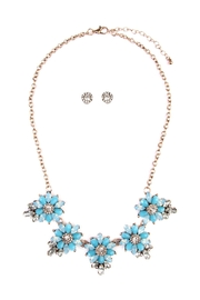 Riah Fashion Floral-Statement-Necklace & Earring-Set - Product Mini Image