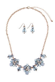 Riah Fashion Floral-Statement Necklace-&-Earring Set - Front cropped
