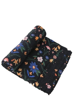 Shoptiques Product: Floral-Stitch Cotton Swaddle