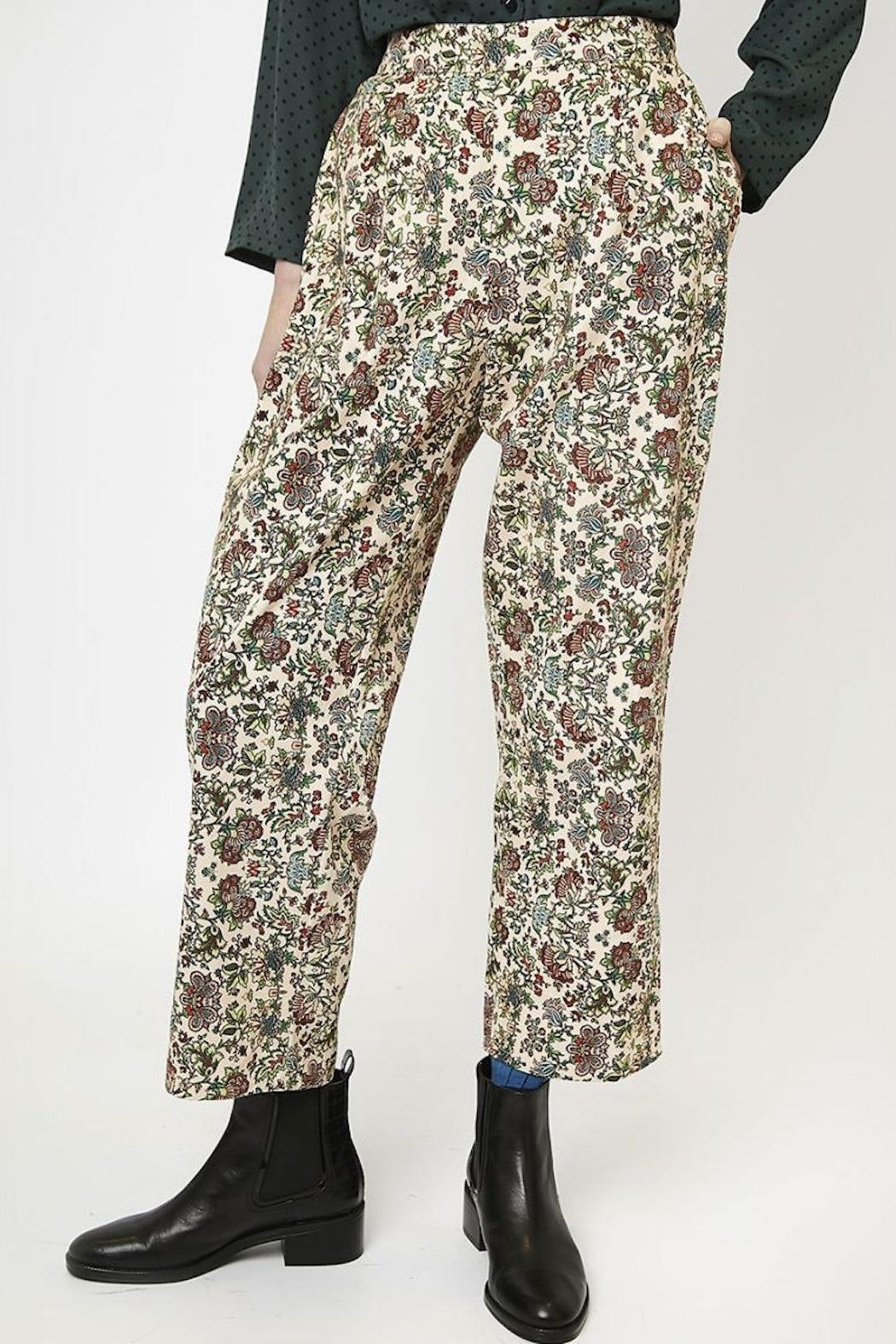 Compania Fantastica Floral Straight Pants - Side Cropped Image