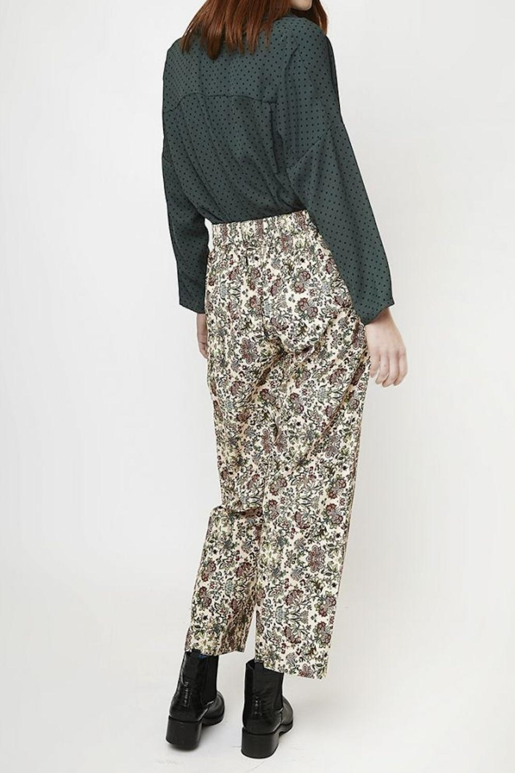 Compania Fantastica Floral Straight Pants - Front Full Image