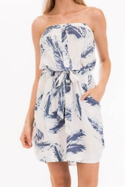 Olivaceous Floral Strapless Dress - Product Mini Image