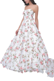Jadore Floral Strapless Gown - Product Mini Image