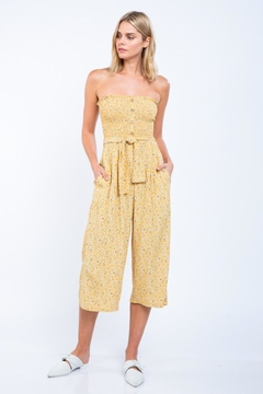 Shoptiques Product: Floral Strapless Jumpsuit