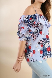 Umgee USA Floral Strappy Off-Shoulder - Front full body