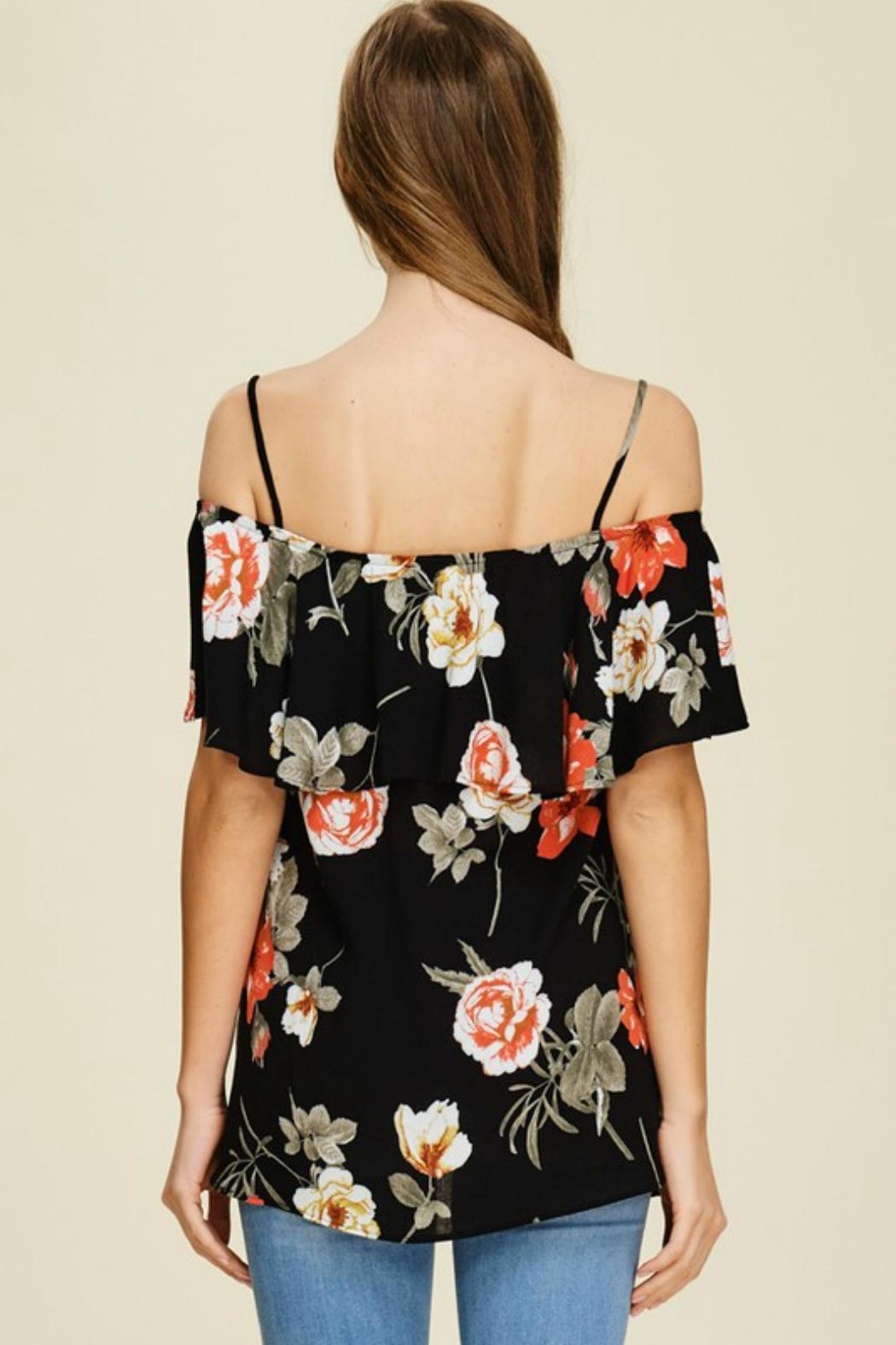 White Birch Floral Strappy Off-The-Shoulder - Front Full Image