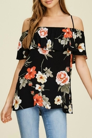 White Birch Floral Strappy Off-The-Shoulder - Front cropped