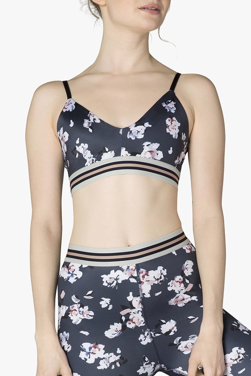 db254fe469 Beyond Yoga Floral Stripe Bra from New Jersey by Barefoot — Shoptiques