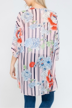 Cezanne Floral/stripe Chiffon Cardigan - Alternate List Image