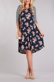 Chris & Carol Apparel Floral & Stripe Everyday Dress - Product Mini Image