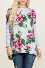 a.gain Floral & Stripe Long Sleeve Top - Product Mini Image