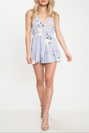 Latiste Floral Stripe Romper - Product Mini Image