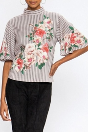 Jealous Tomato Floral Stripe Top - Product Mini Image