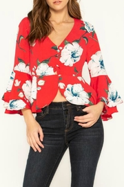 Miss Me Floral Stunner Top - Front cropped