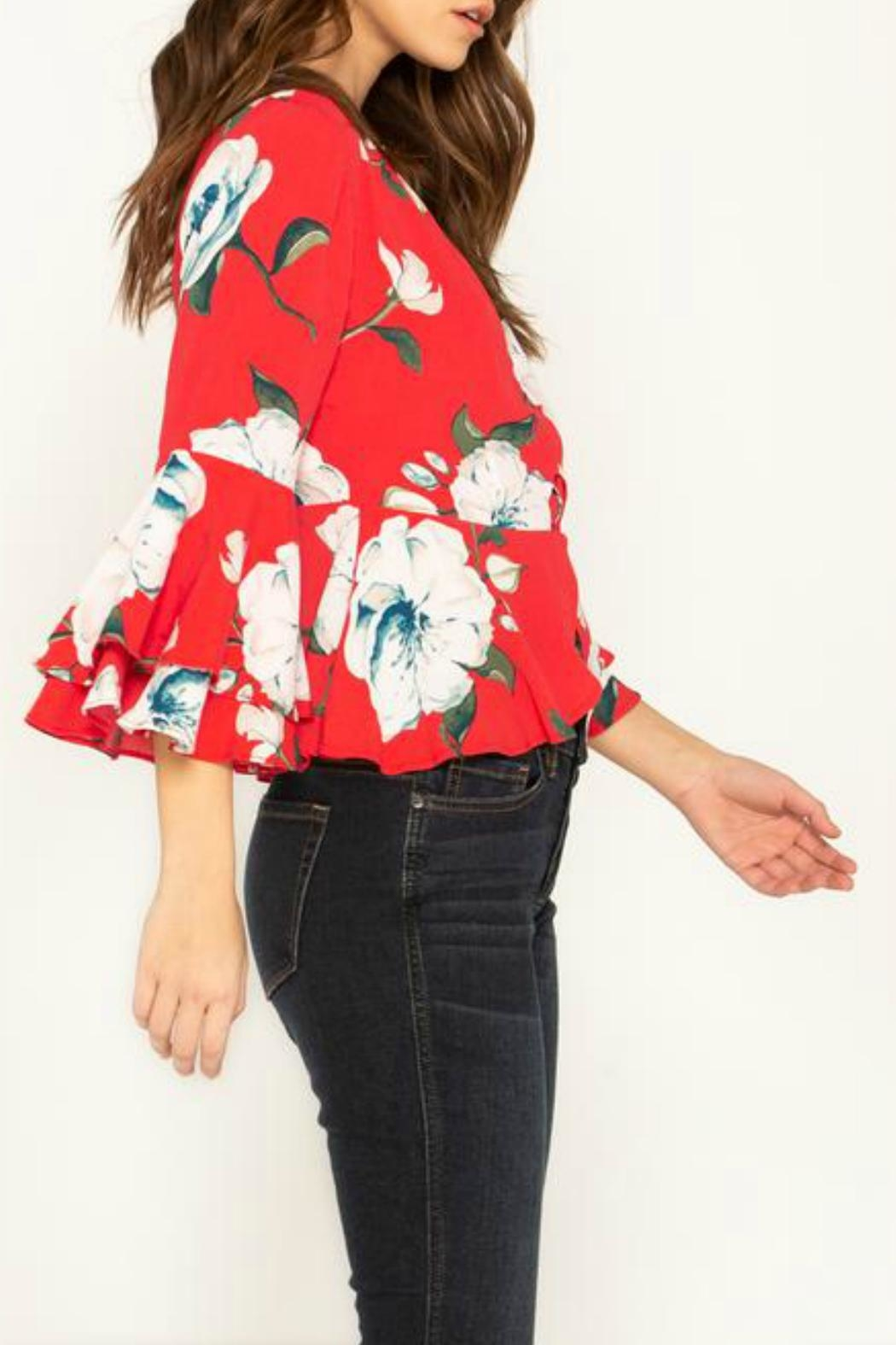 Miss Me Floral Stunner Top - Side Cropped Image