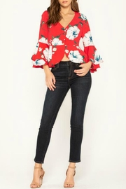 Miss Me Floral Stunner Top - Back cropped