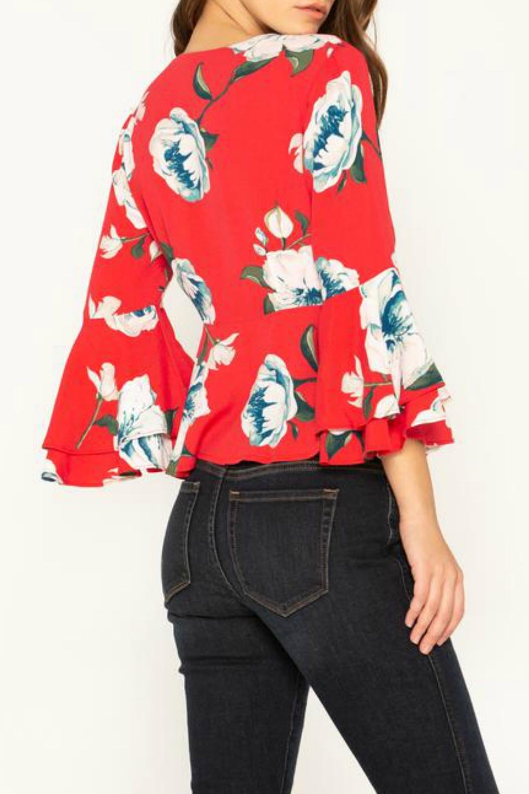 Miss Me Floral Stunner Top - Front Full Image