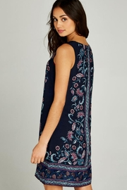 Apricot Floral Summer Dress - Side cropped